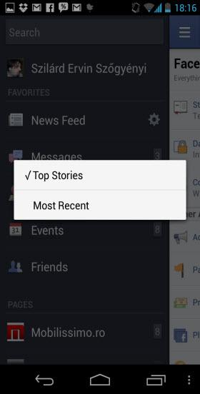 Aplicația Facebook pentru Android primește o actualizare majoră, devină nativă, renunța la HTML5