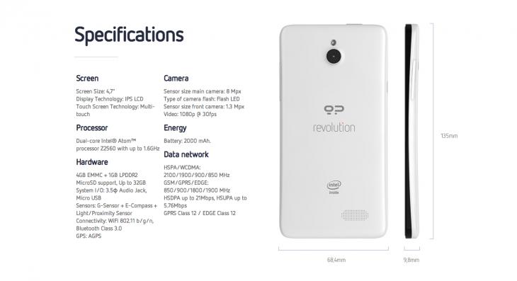 Telefonul dual boot Android/Firefox Geeksphone Revolution primește specificații noi