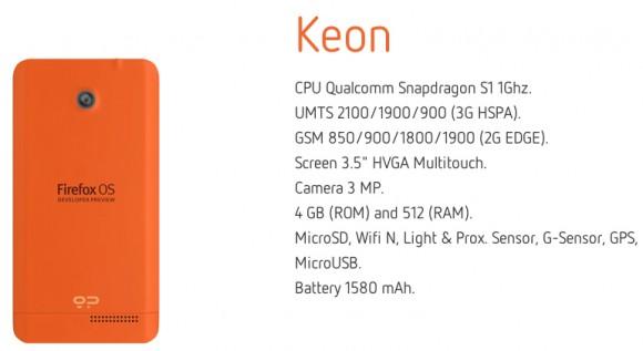 Firefox OS Keon