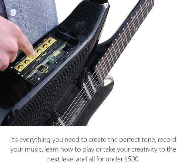 Fusion Guitar este chitara smart perfectă, cu difuzoare şi conectivitate amplă, dar şi integrare iPhone (Video)