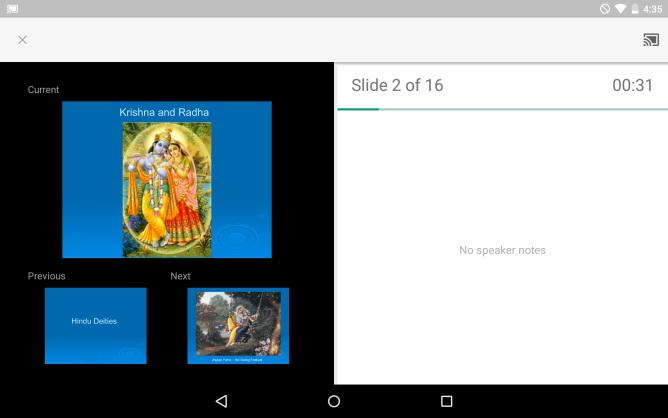 Google Slides pentru Android primeşte suport Chromecast