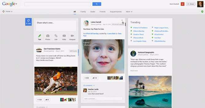 Google I/O 2013 - Noul Google Plus