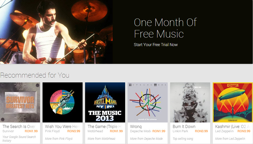 Google Play Music disponibil in Romania