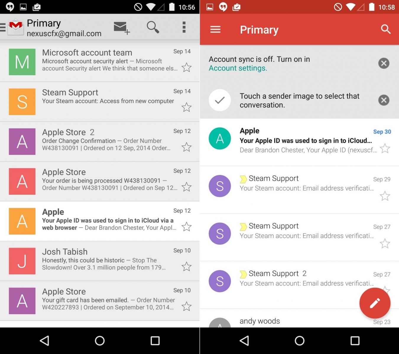 Google Gmail 5.0