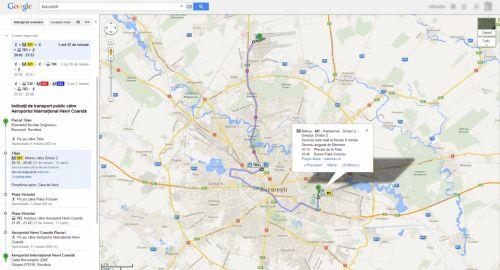 Google Maps include de azi transportul public din 7 oraşe ale României