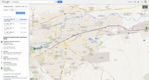 Google Maps include de azi transportul public din 7 orașe ale României