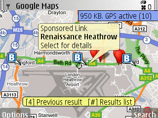 Google Maps varianta 2.2