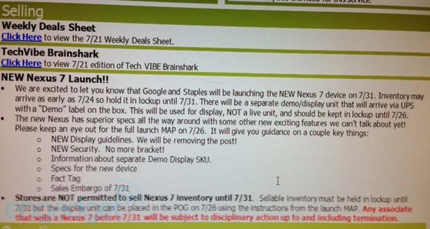Noi detalii despre Nexus 7 2: camere duale, Încărcare wireless, În magazine peste 11 zile