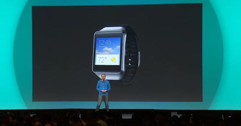 Platforma Android Wear prezentată În cadrul Google I/O 2014; Samsung Gear Live este cel de-al treilea smartwatch ce rulează acest OS