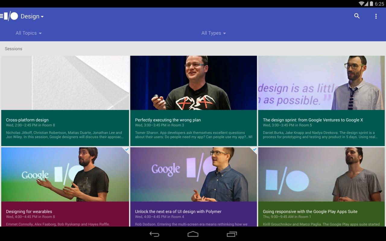Google I/O 2014 primește o aplicație pentru Android, include streaming live pentru keynote și sesiuni