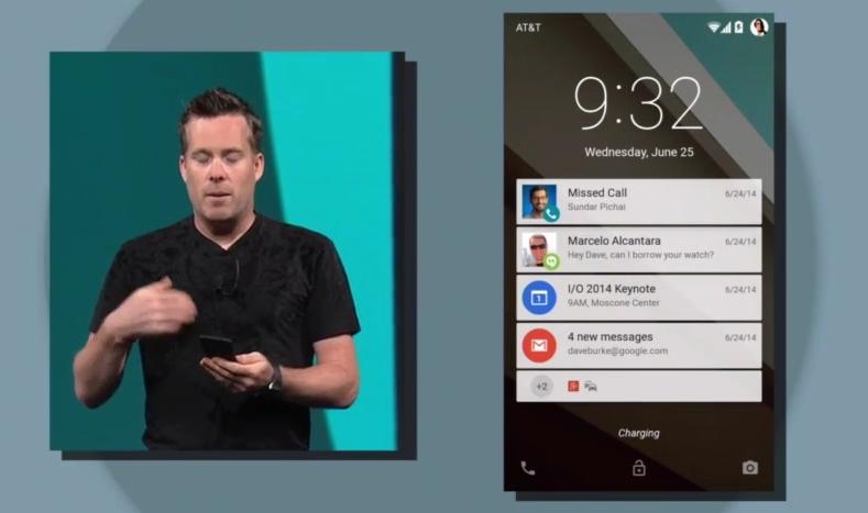 Conferința Google I/O 2014 oferă un teaser al viitoarei versiuni Android denumită pentru moment Android L-release; de asemenea este prezentat și un nou limbaj de design