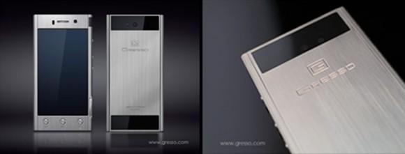 Aur alb și Android 4.1.2 pentru noul telefon Gresso Radical, smartphone de 2000 de dolari