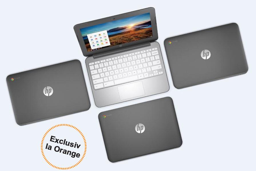 Laptopul HP Chromebook disponibil în România, în exclusivitate la Orange România
