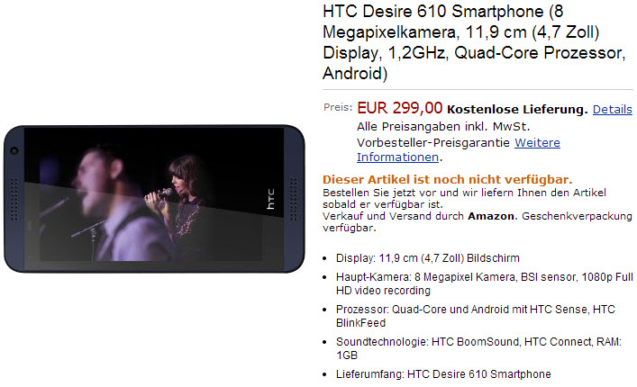 Pret HTC Desire 610