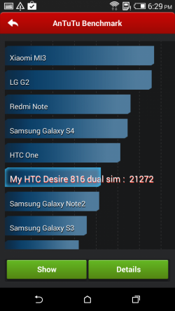 HTC Desire 816 - AnTuTu benchmark