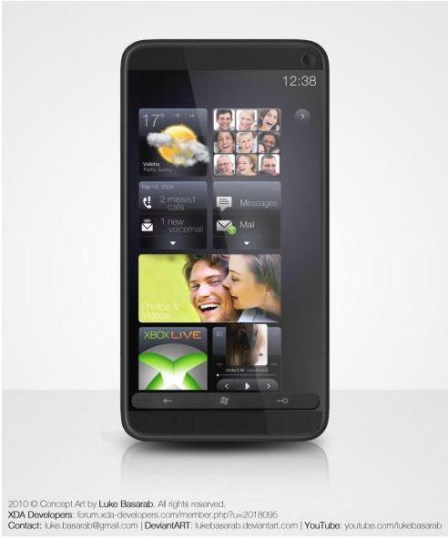HTC HD3 vine cu interfata HTC Sense 3, suprapusa lui Windows Phone 7... doar un concept deocamdata
