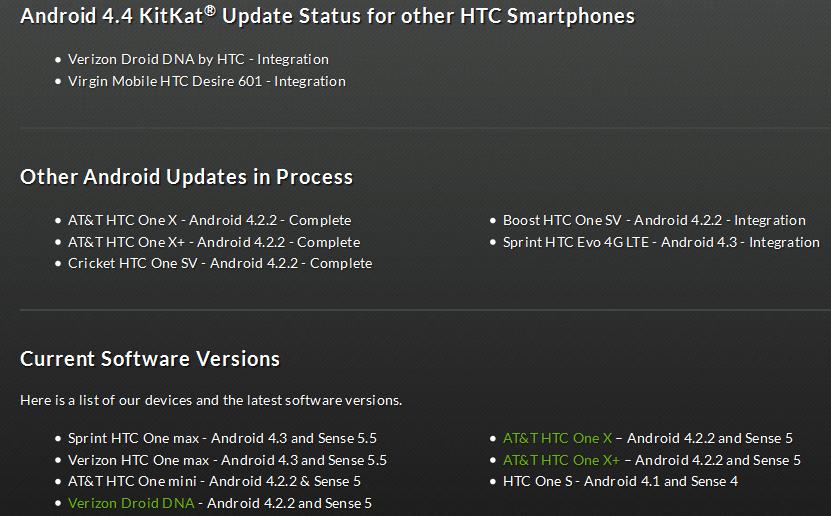 HTC One Max primește actualizarea la KitKat În martie, HTC One Mini În aprilie, conform unui roadmap