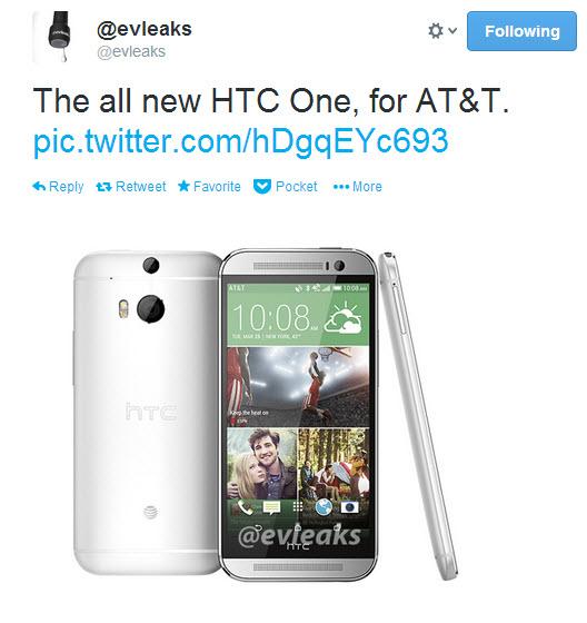 Cea mai nouă imagine cu HTC One 2/ M8 ne arată telefonul În versiunea AT&T