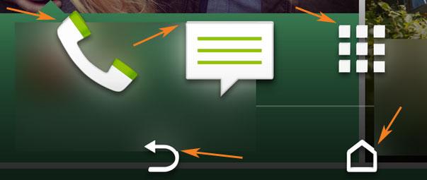 O primă captură de ecran ne dezvăluie home screen-ul lui HTC M8 și prezența butoanelor software