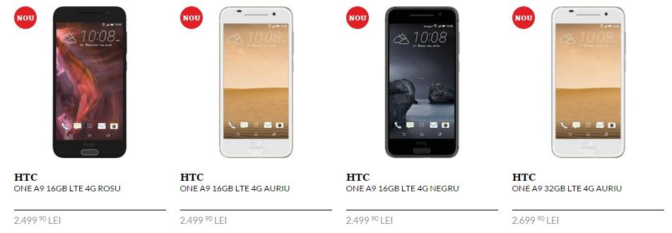 HTC One A9 de astăzi și în stocurile QuickMobile.ro; costă 2.499 lei în versiunea cu 2 GB RAM