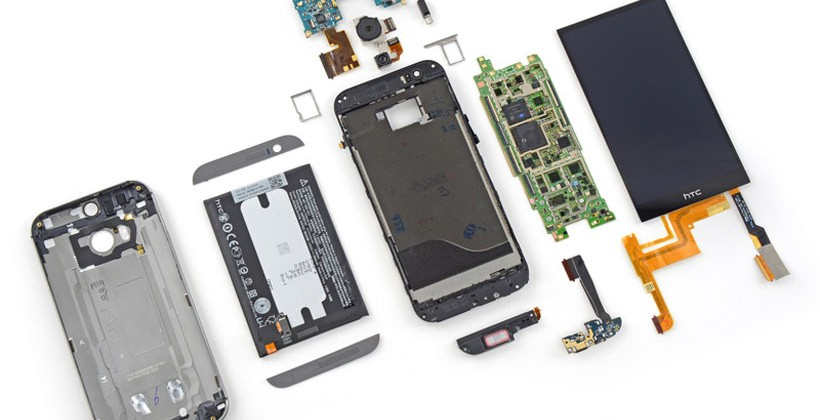 HTC One M8 disecat de iFixit, e foarte greu de reparat (Video)