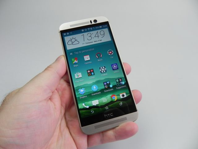 HTC One M9, parte frontala