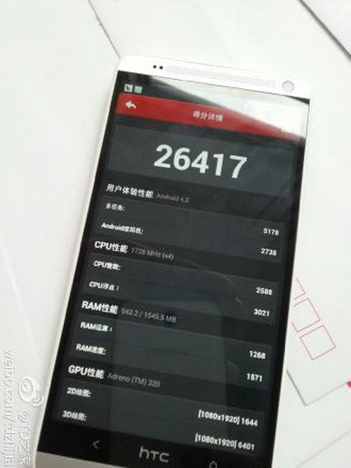 HTC One Max benchmark