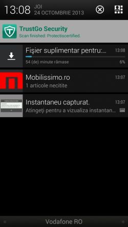 HTC One Android 4.3 Vodafone Romania