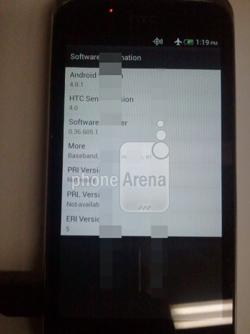 HTC cu Android 4.0 Incredible S