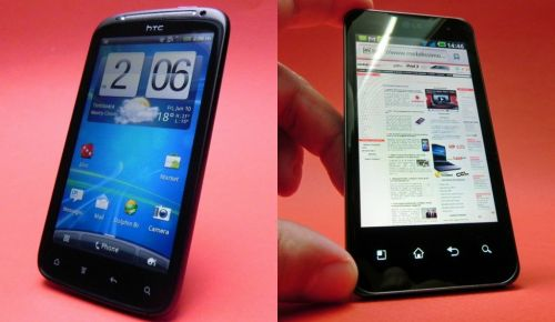 HTC Sensation vs LG Optimus 2X