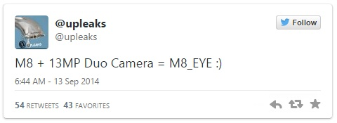 HTC One M8 Eye ar putea sosi cu o cameră foto DUO de 13 megapixeli