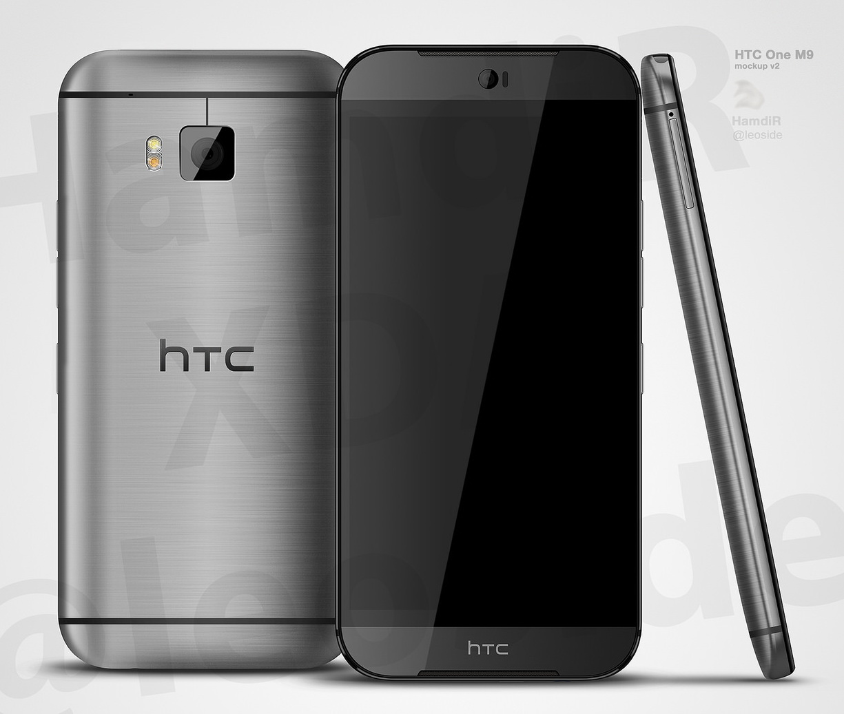 HTC One M9 (Hima) randat de un designer urmând zvonurile lui @evleaks; Foarte aproape de o imagine realistă!