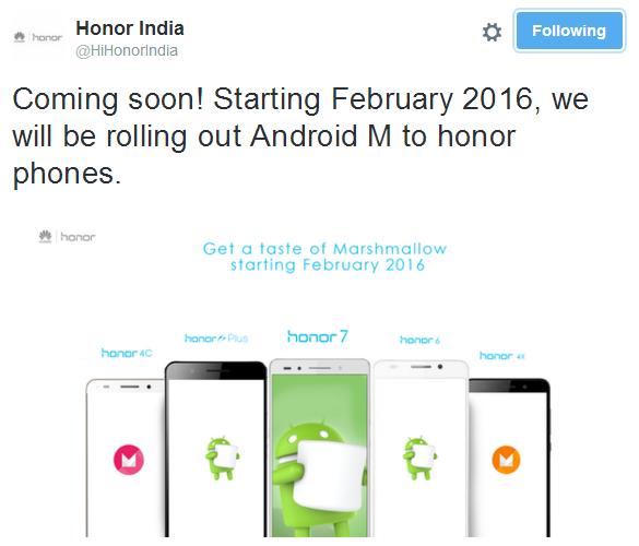 Telefoanele Huawei din seria Honor vor primi actualizarea la Android 6.0 Marshmallow în februarie anul viitor
