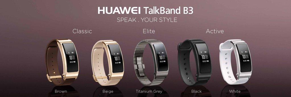 Huawei anunţă oficial TalkBand B3, purtabil elegant cu ecran PMOLED curbat