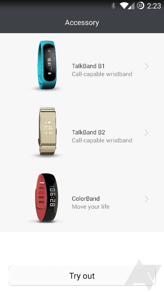 MWC 2015: Smartwatchul Huawei TalkBand B2 îşi face apariţia în aplicaţia Wear de la Huawei