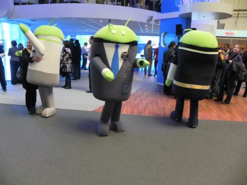 Mascote Intel Android