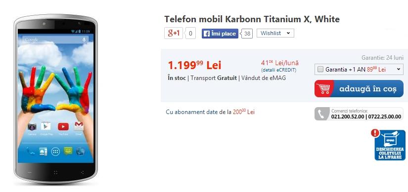 eMAG - Karbonn Titanium X