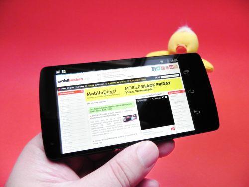 LG Nexus 5 browser