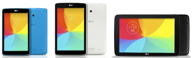 LG lansează 3 tablete noi din seria G Pad: LG G Pad 7.0, G Pad 8.0 și G Pad 10.1 vin În culori diferite