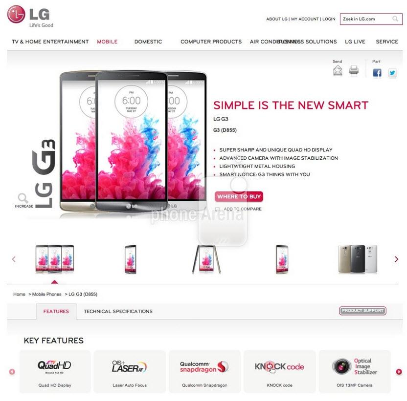 Noi informații despre funcțiile speciale ale lui LG G3: aplicație de sănătate, autofocus laser si noi imagini cu ambalajul telefonului
