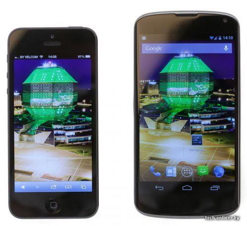 LG Nexus 4 si iPhone 5