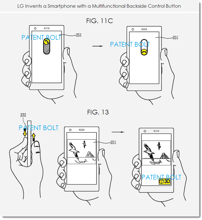 LG dezvăluie un viitor smartphone ce va beneficia de un buton plasat pe spate, similar cu butoanele integrate pe LG G2; acesta va avea funcții multiple