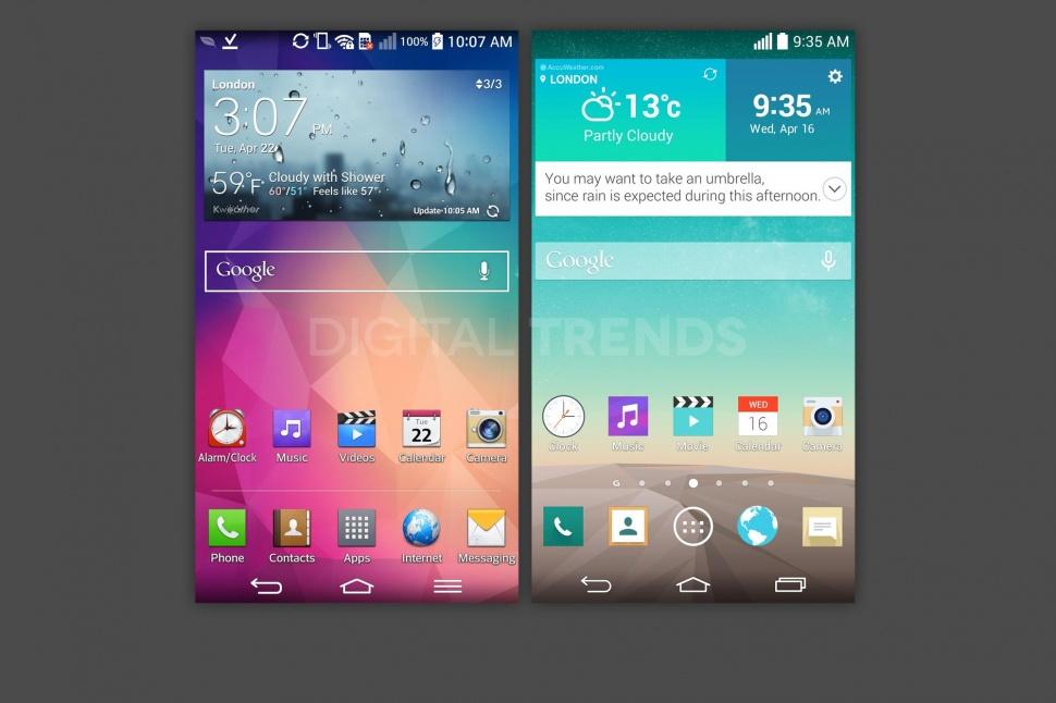 O serie de capturi de ecran ale lui LG G3 Își fac apariția pe web; acestea scot la iveală o nouă interfață curată și simplistă