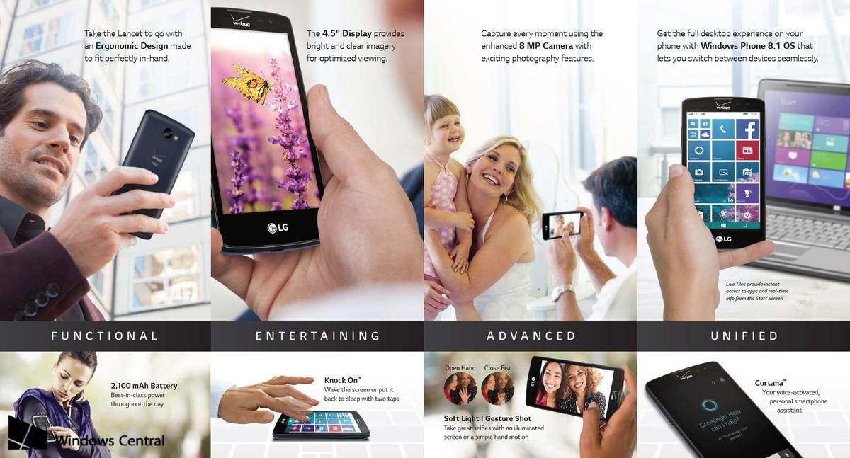 LG revine pe piaţa Windows Phone cu modelul LG Lancet; Acesta are dotări modeste şi WP 8.1 Update 2