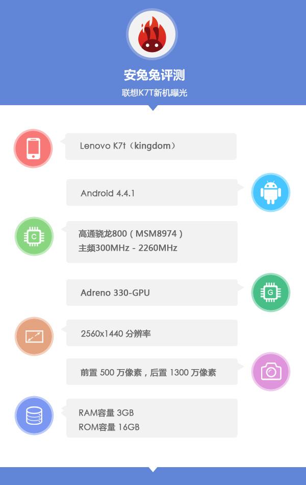 Lenovo K7T Kingdom, un nou smartphone cu ecran 2K testat În benchmarkul AnTuTu