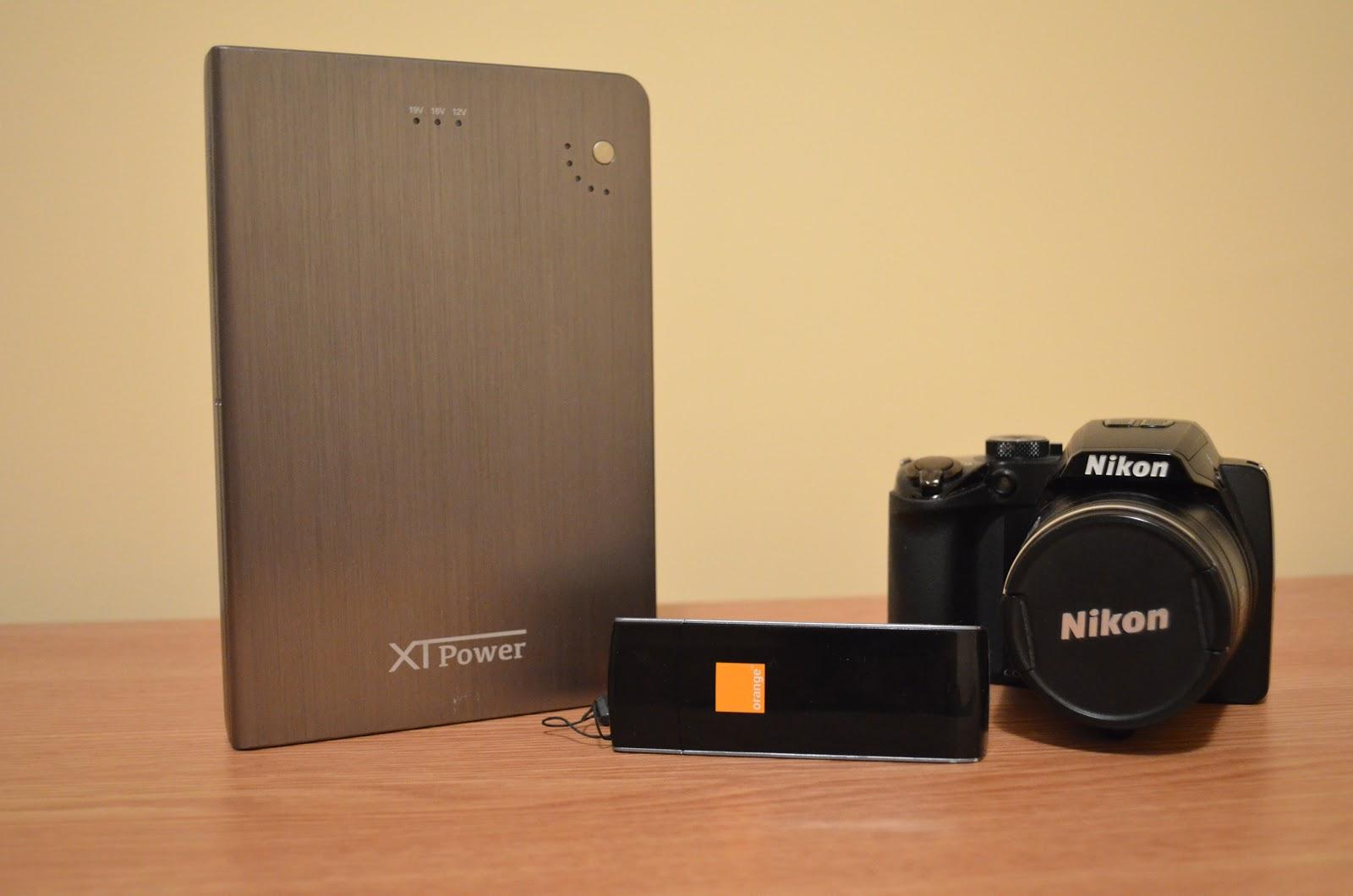 Baterie externă XTPower de 24.000 mAh, Nikon Coolpix P100 si Modem LTE Orange