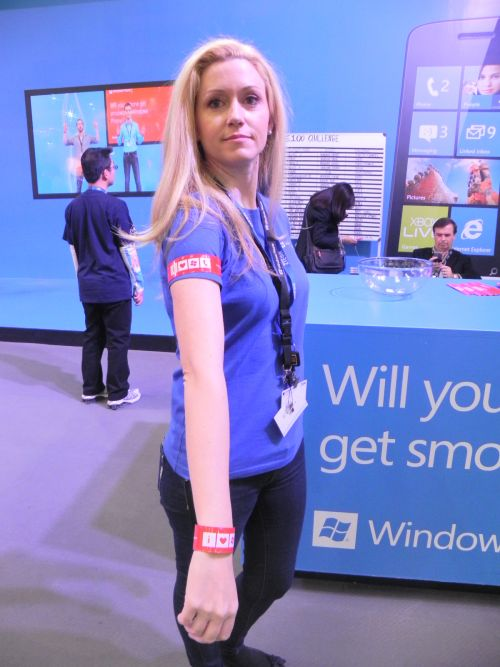 Standul Windows Phone de la Mobile World Congress 2012 din Barcelona