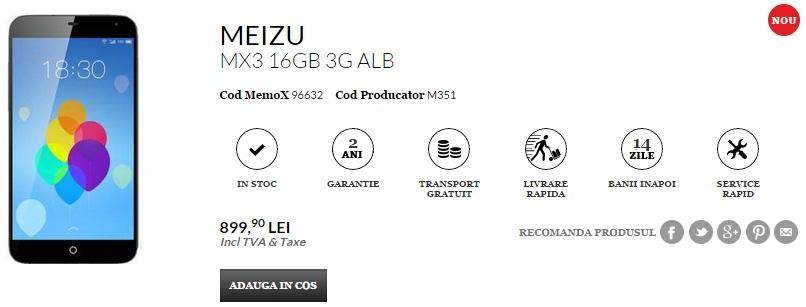 QuickMobile.ro aduce noi telefoane atractive În stoc; Meizu MX3, Sony Xperia M2 Aqua și multe altele