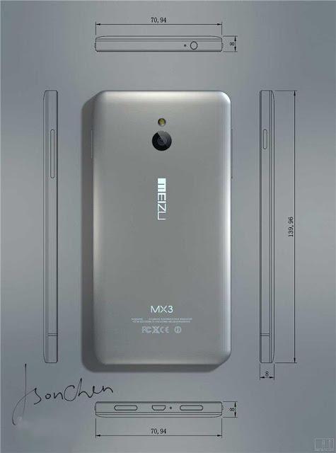 Meizu MX3 ni se dezvăluie Într-o serie de randări; Vestigii ale lui HTC Hero prezente!