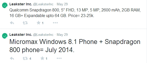 Micromax pregătește lansarea unui device WP 8.1 În luna iunie; acesta va adopta o carcasă spate similară cu cea a lui HTC One